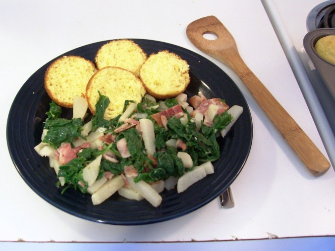 Turnips and bacon